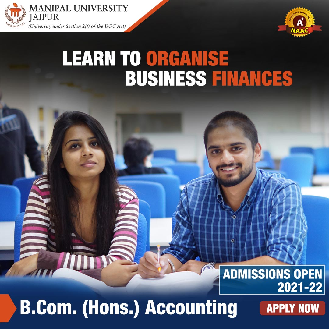 B Com Commerce Accounting Admissions at Manipal University Jaipur