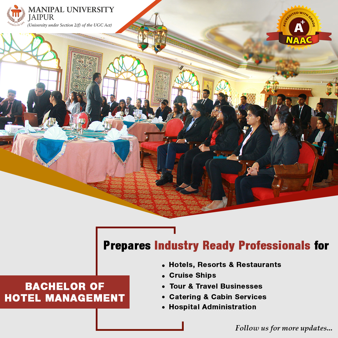 Admissions to Bachelor of Hotel Management, Manipal University Jaipur