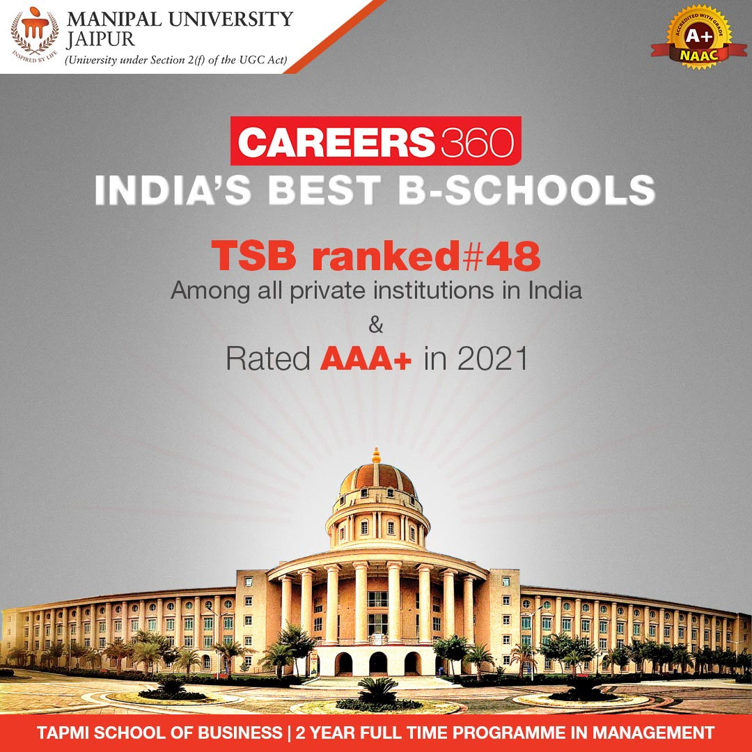 TAPMI School of Business ranked amongst India's Best B-School