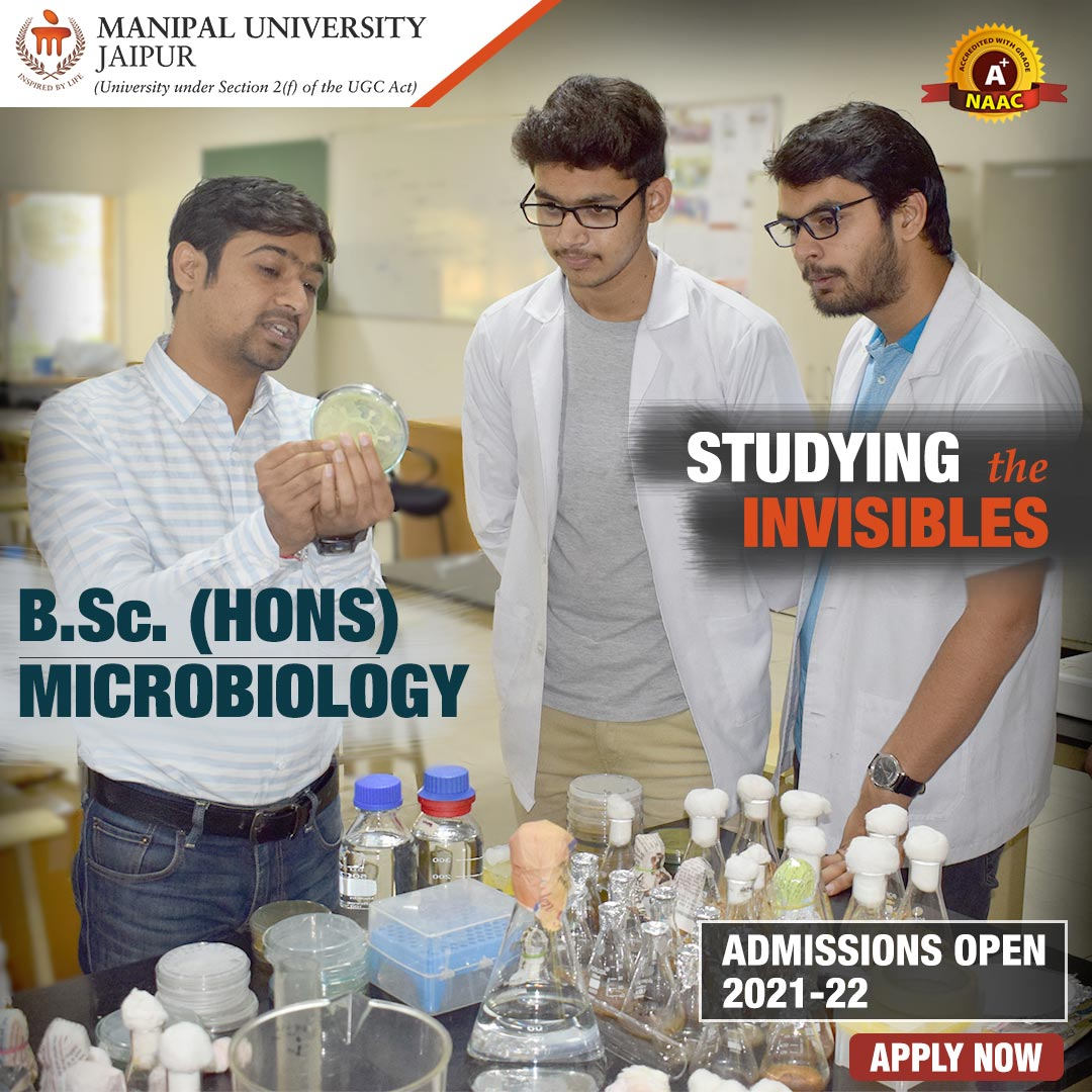 BSc Microbiology Admission Highlights at Manipal University Jaipur