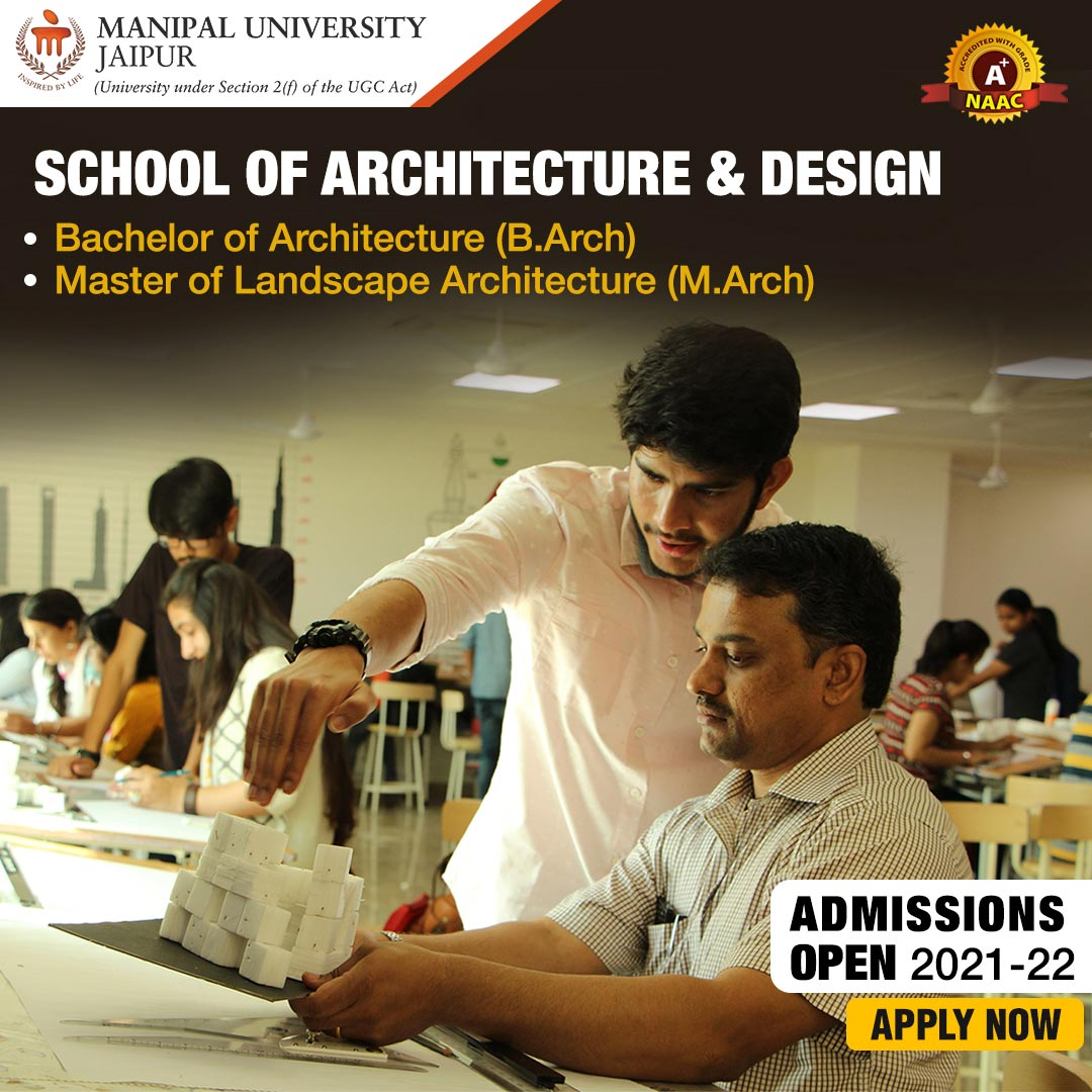 Admission Application for School of Architecture & Design Manipal University Jaipur