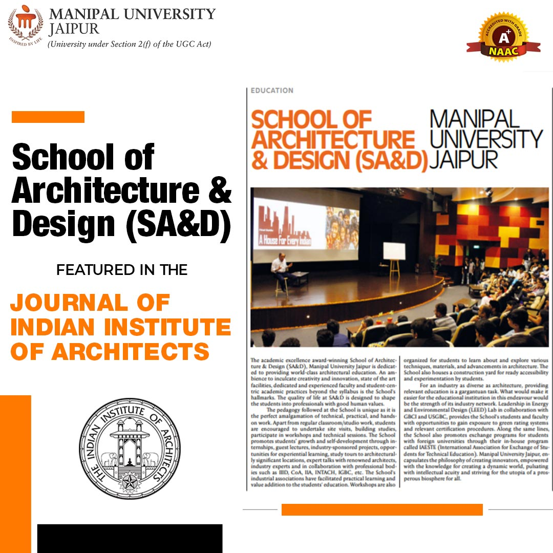 B Arch M Arch Admission at Manipal University Jaipur